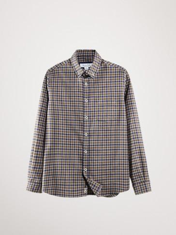 قميص قطن مربعات