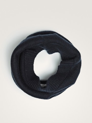 NAVY BLUE COTTON SNOOD