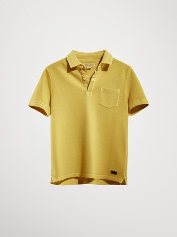FADED SHORT SLEEVE POLO SHIRT
