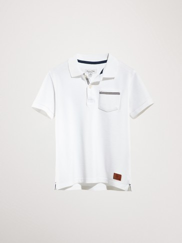 SHORT SLEEVE POLO SHIRT WITH CONTRAST POCKET