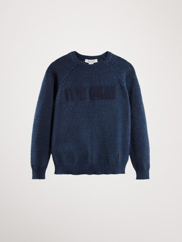 'IT'S OKAY' COTTON SWEATER