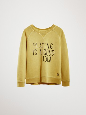 'PLAYING IS A GOOD IDEA' COTTON SWEATSHIRT