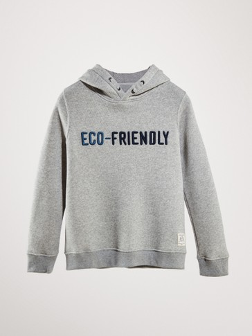 KAPÜŞONLU ECO-FRIENDLY SWEATSHIRT
