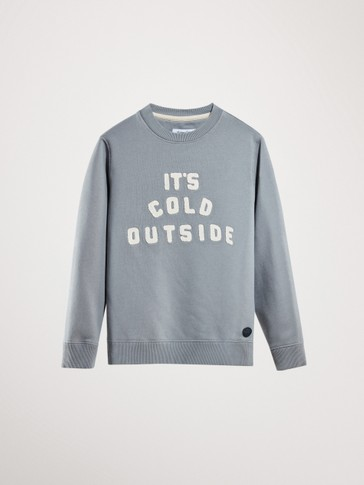 SWEATSHIRT AUS BAUMWOLLE »IT'S COLD OUTSIDE«