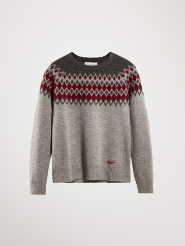 WOOL AND CASHMERE JACQUARD SWEATER
