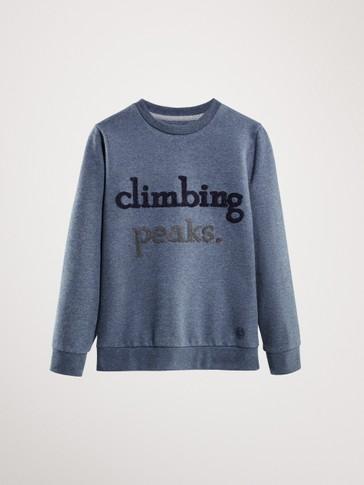 'CLIMBING PEAKS' COTTON SWEATSHIRT