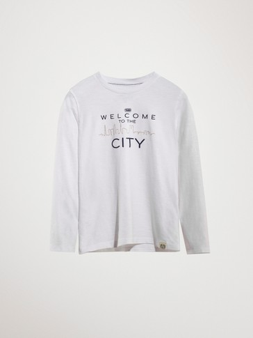 'WELCOME TO THE CITY' COTTON T-SHIRT