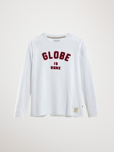 GLOBE IS HOME COTTON T-SHIRT