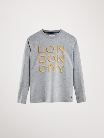 'LONDON CITY' COTTON LONG SLEEVE T-SHIRT