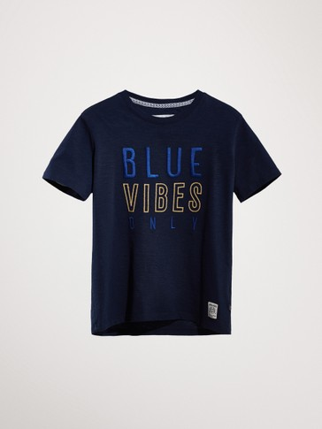 BLUE VIBES COTTON T-SHIRT