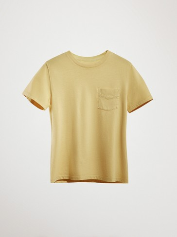 FADED T-SHIRT WITH CHEST POCKET