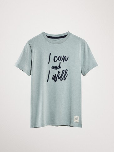 BAUMWOLLSHIRT »I CAN AND I WILL«