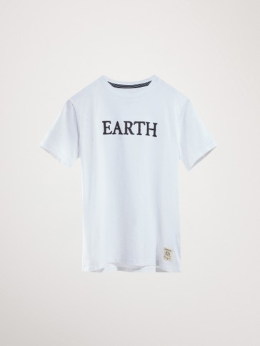 'EARTH' COTTON T-SHIRT