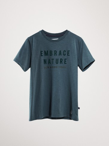 EMBRACE NATURE COTTON T-SHIRT