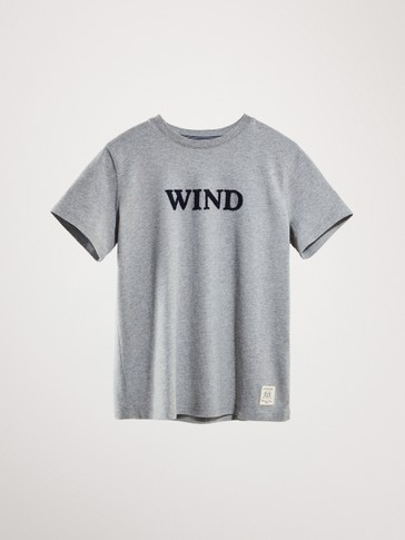 WIND  BASKILI PAMUKLU T-SHIRT