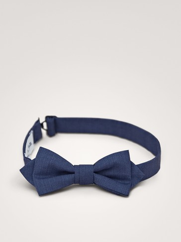 DENIM COTTON BOW TIE