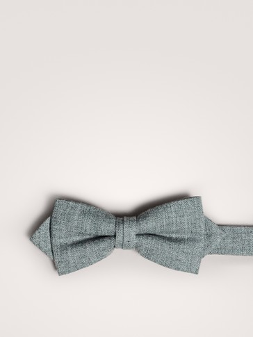 GREY BOW TIE 100% COTTON
