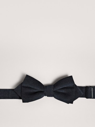 NAVY BLUE 100% COTTON BOW TIE