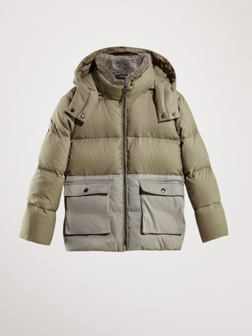 CONTRAST DOWN JACKET