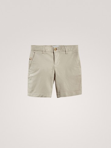 PLAIN CHINO BERMUDA SHORTS