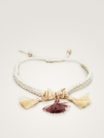 SHELL AND TASSEL BRACELET