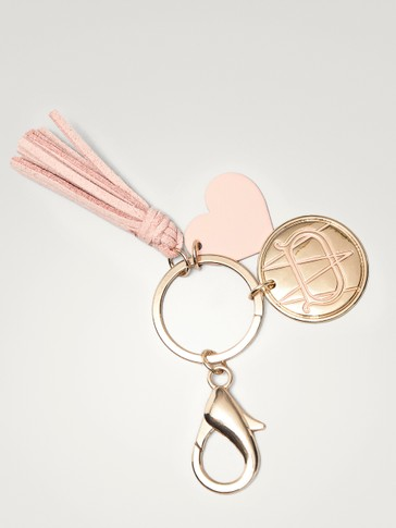 TASSEL AND HEART KEY RING