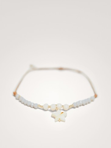 STONE BRACELET WITH MOTHER-OF-PEARL STAR