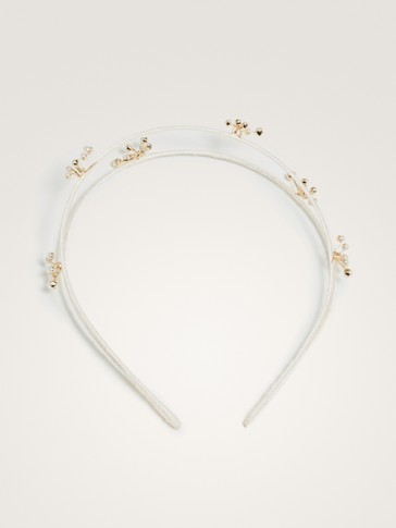 HEADBAND WITH GOLDEN DETAILS