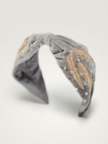 VELVET SEQUINNED HEADBAND