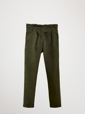 CASUAL FIT COTTON CHINO TROUSERS