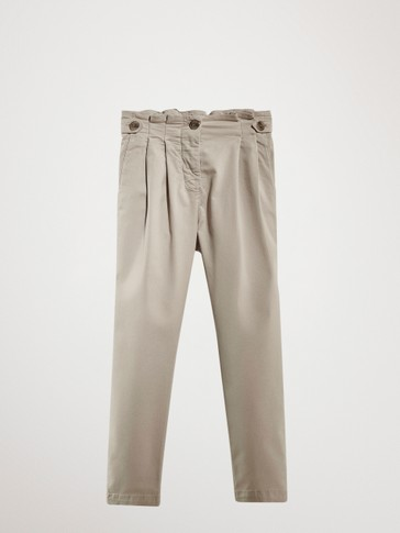 CASUAL-FIT BOMULLSBUKSE TYPE CHINOS