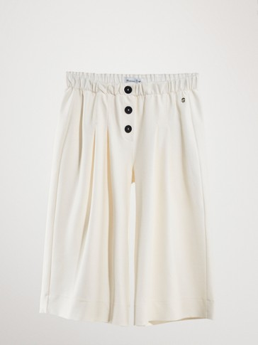 CULOTTE TROUSERS WITH BUTTONS