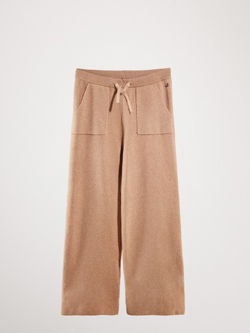 KNIT COTTON TROUSERS WITH POCKETS