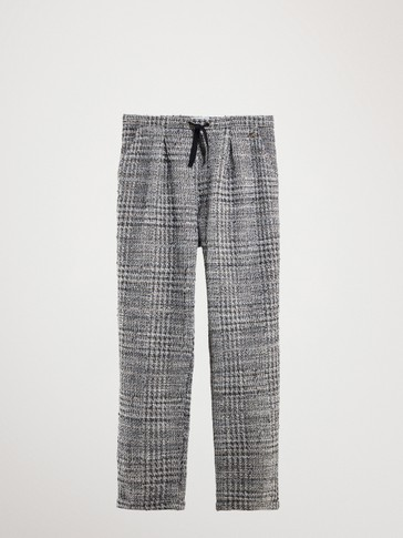 TEXTURED KNIT TROUSERS