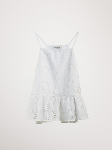 CUTWORK COTTON TOP