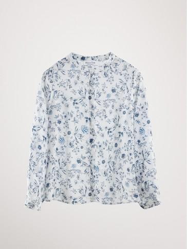 플라워 패턴 셔츠