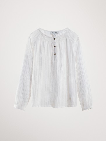 SHIRT WITH METALLIC THREAD DETAIL