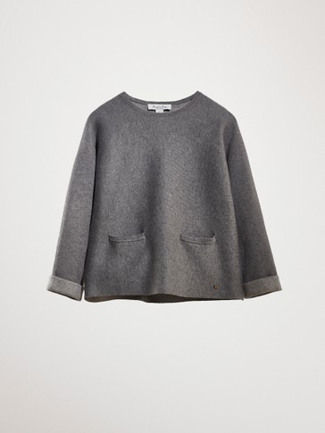 COTTON SWEATER WITH POCKETS