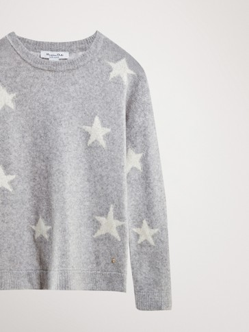 WOOL SWEATER WITH STARS
