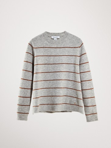 STRIPPED ROUND NECK SWEATER
