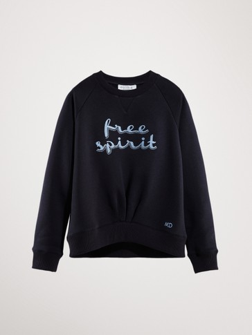 FREE SPIRIT NAVY SWEATSHIRT