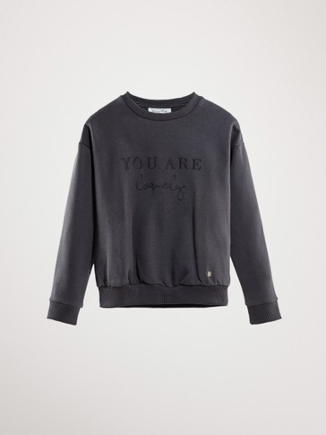 YOU ARE LOVELY COTTON SWEATSHIRT