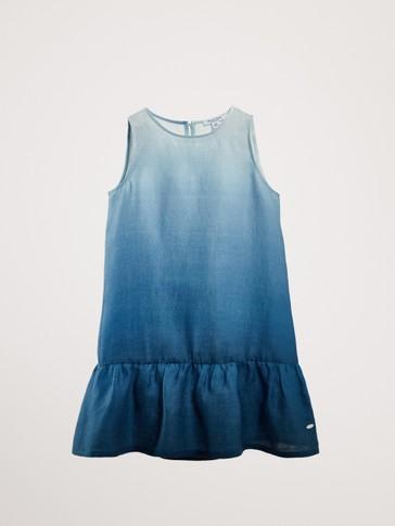 100% LINEN TIE-DYE DRESS