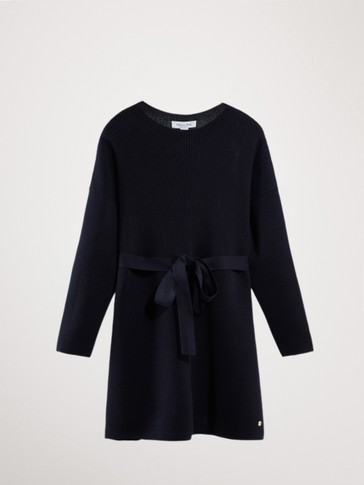 COTTON DRESS WITH BELT