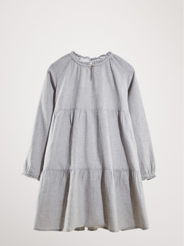 HEATHERED COTTON DRESS