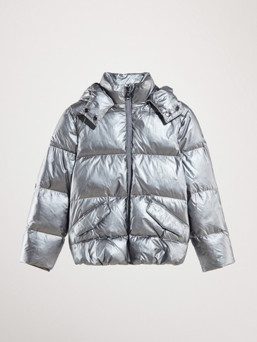 LAMINATED QUILTED DOWN JACKET