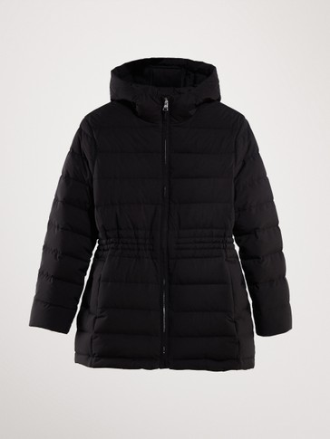 LONG BLACK DOWN JACKET