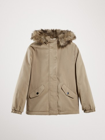 PARKA WITH FAUX FUR DETACHABLE HOOD