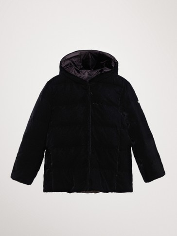 REVERSIBLE VELVET DOWN JACKET