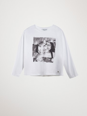PHOTO PRINT COTTON T-SHIRT